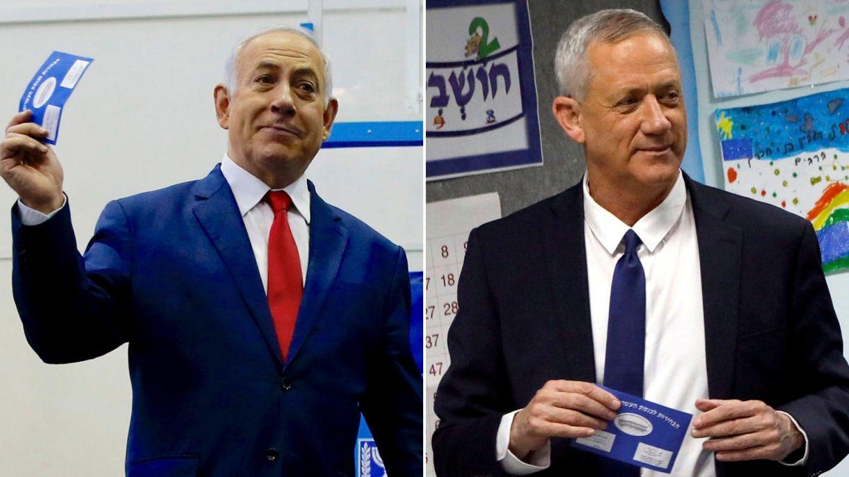 Benjamin Netanyahu y Benny Gantz (Reuters)