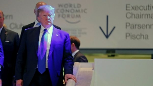 Donald Trump en el foro de Davos (REUTERS)