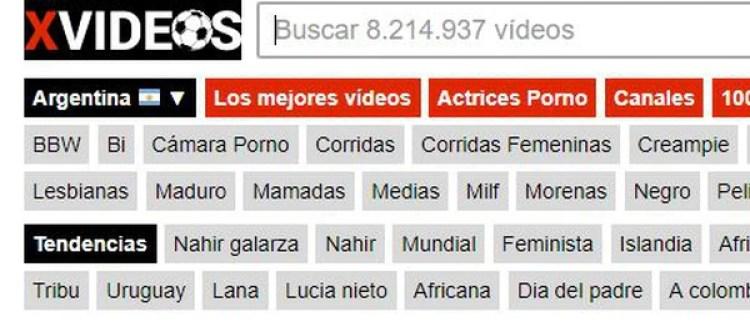Nahir, tendencia en Xvideos.com.