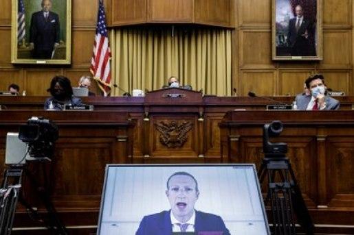 Zuckerberg durante otra audiencia ante el Congreso