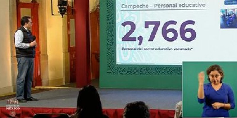 Campeche is the first state to vaccinate teachers (Photo: SSa)