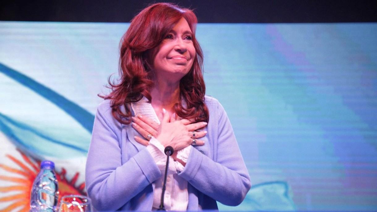 Cristina Kirchner en la presentación de su libro en Rosario (Prensa Unidad Ciudadana)