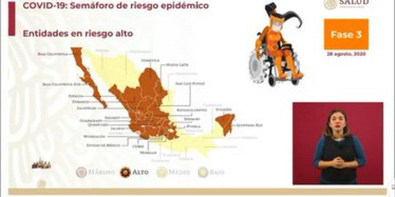 Para el siguiente periodo 21 estados estarán en color naranja de alerta apidémica (Foto: SSa)