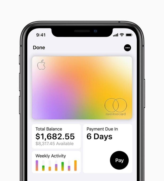 La tarjeta de crédito de Apple está diseñada especialmente para iPhone.