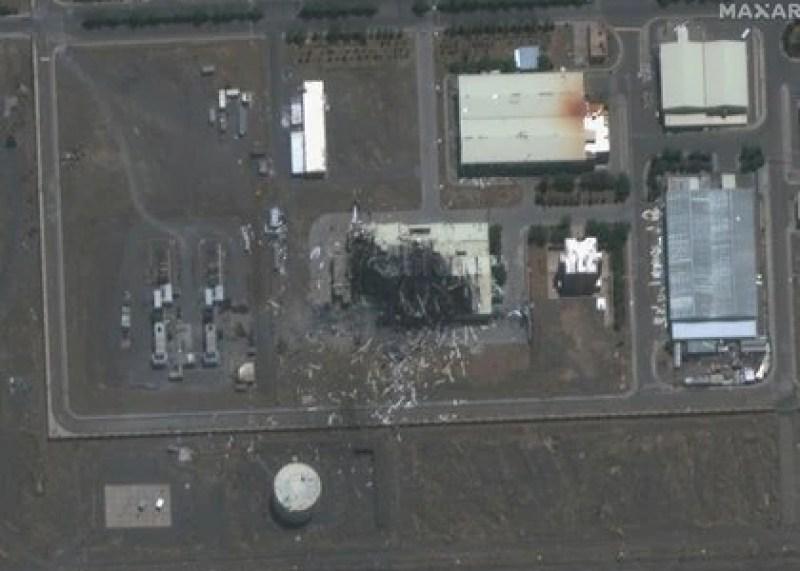 Imagen satelital del complejo de Natanz