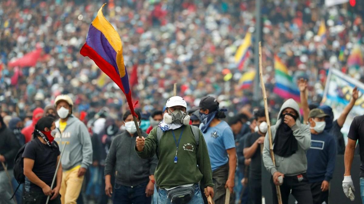 Continúa el bloqueo de vías en Ecuador y crece la tensión por la gran manifestación convocada para este miércoles