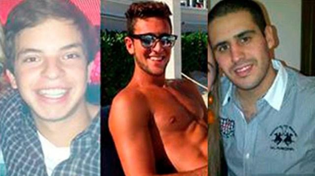 Leandro Del Villar, Luciano Mallemaci y Ezequiel Quintana, los tres jóvenes acusados de violación.