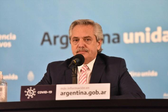 Alberto Fernandez y Gines Gonzalez Garcia anuncian produccion de la vacuna de Oxford en Argentina