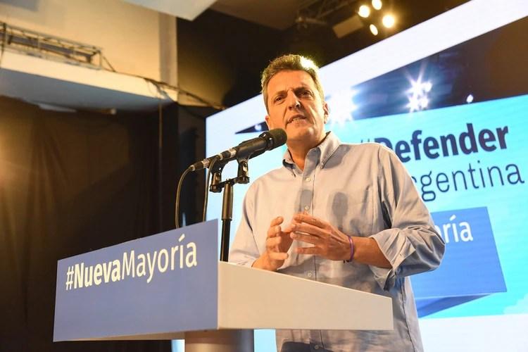 Sergio Massa. Uñac pidió que el líder del Frente Renovador compita en una interna con la fórmula Fernández-Fernández (Franco Fafasuli)