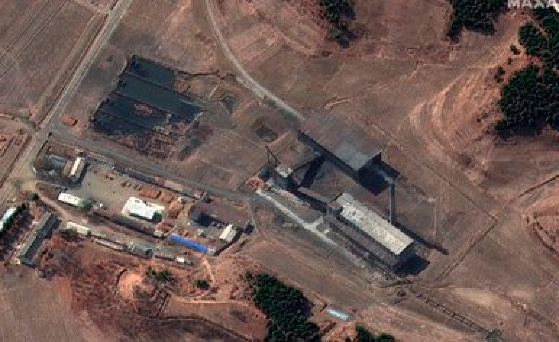 La planta atómica de Yongbyon (Maxar Technologies via AP)