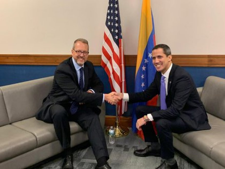 James Story and Juan Guaidó.