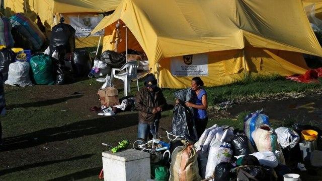 Campamento de refugiados venezolanos en Bogotá (Reuters/ Luisa González)