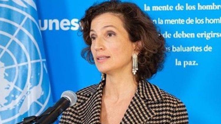 La directora general de la UNESCO, Audrey Azoulay
