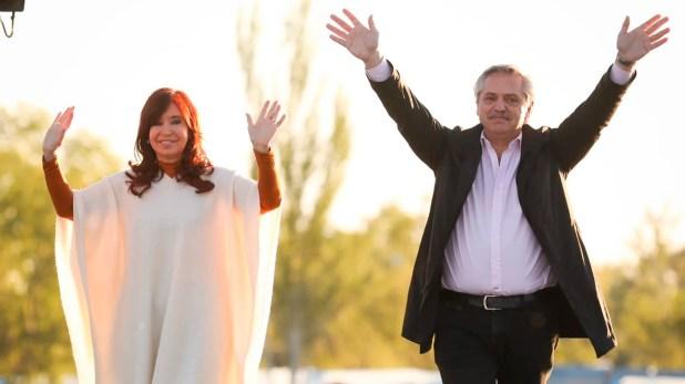 Alberto Fernández y Cristina, juntos en La Pampa, celebraron el 17 de Octubre, Día de la Lealtad Peronista