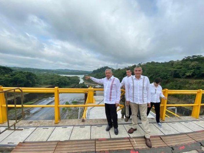 Presa Peñitas en Ostuacán, Chiapas(Foto: Cortesía Presidencia)