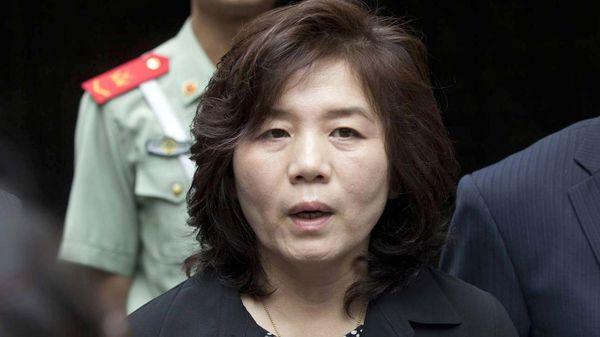 Choe Son-hui,directora general del departamento para Norteamérica del Ministerio norcoreano de Exteriores