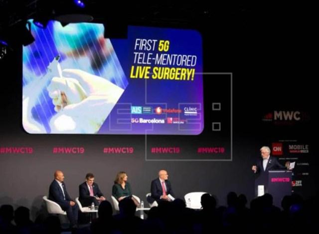 Lapresentación de la cirugía transmitida en tiempo real en 5G en el MWC 2019