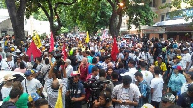 La protesta fue convocada por el Frente Amplio Venezuela Libre