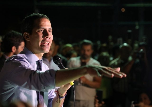 Juan Guaidoen una conferencia de prensa enCaracaseste martes (Foto: REUTERS/Manaure Quintero)