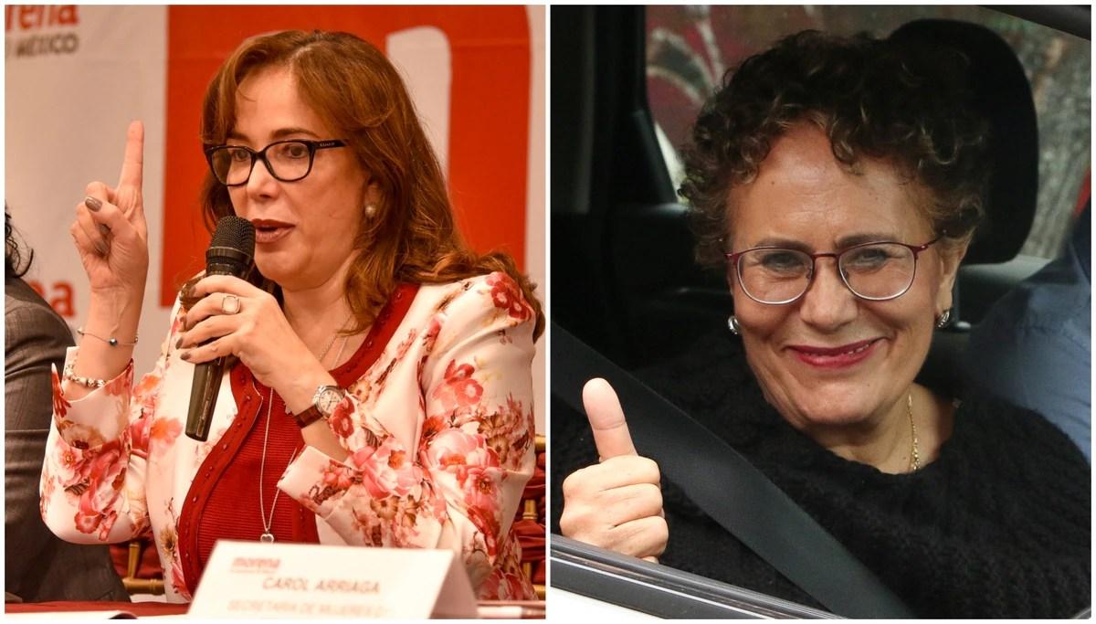 La guerra por Morena: Bertha Luján y Yeidckol Polevnsky, dispuestas a renunciar a sus cargos