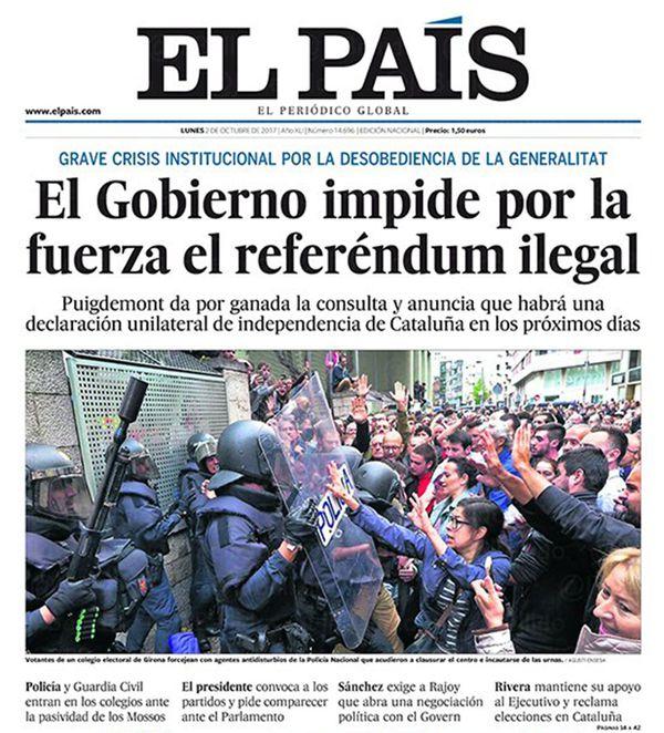 Espa a desgarrada el refer ndum en catalu a en la for Noticias del espectaculo internacional hoy