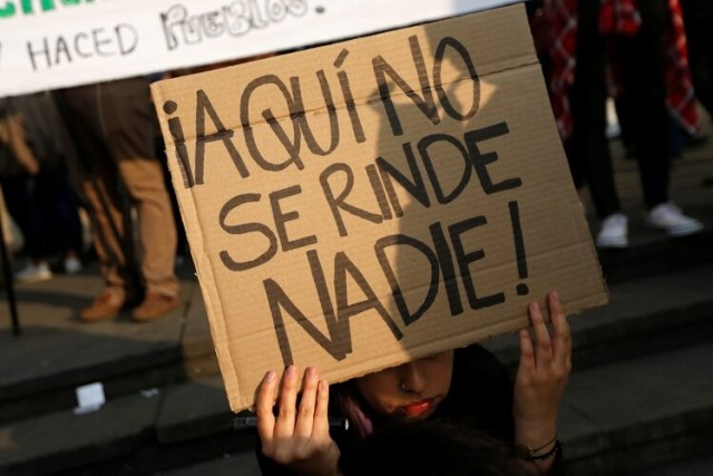 Protestas en Bogotá.(REUTERS/Luisa Gonzalez)