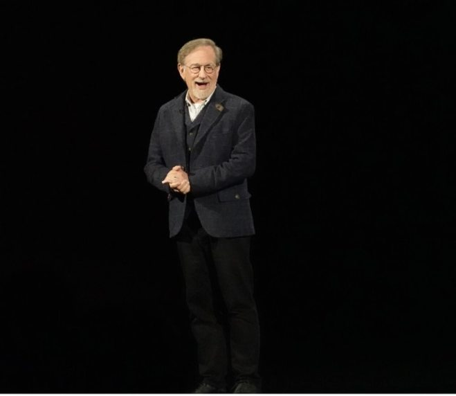 Steven Spielberg en el evento de Apple.