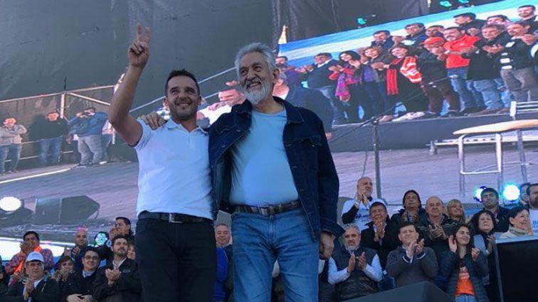 El intendente electo, Sergio Tamayo, junto a Alberto Rodríguez Saá (@alberto_rsaa)