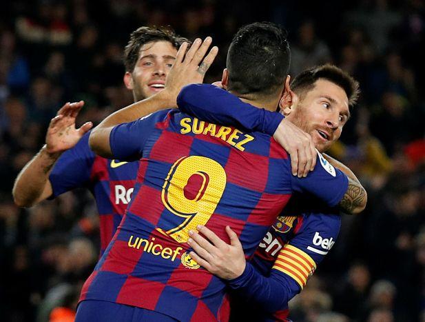 Messi convirtió un triplete en el último partido - REUTERS/Albert Gea