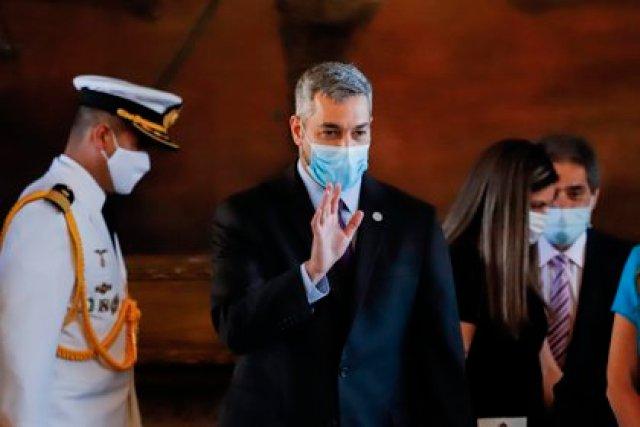 El presidente paraguayo, Mario Abdo Benítez. EFE/Nathalia Aguilar/Archivo