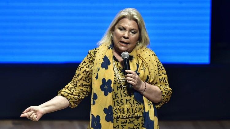 La diputada Elisa Carrió