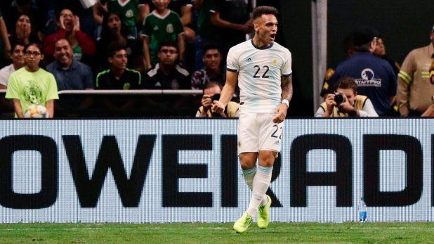 Lautaro Martínez podría quedar afuera de los Juegos Olímpicos (AP Photo/Eric Gay)