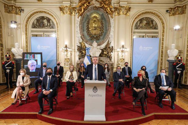 Alberto Fernández - presenta la reforma judicial