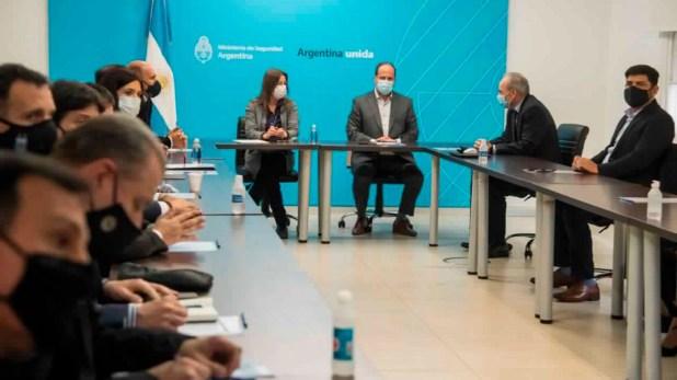 reunion entre Conmebol y el Ministerio de Seguridad de la nación por la Copa America 2021