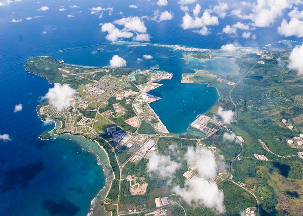 Vista aérea de la base de Guam (Reuters)