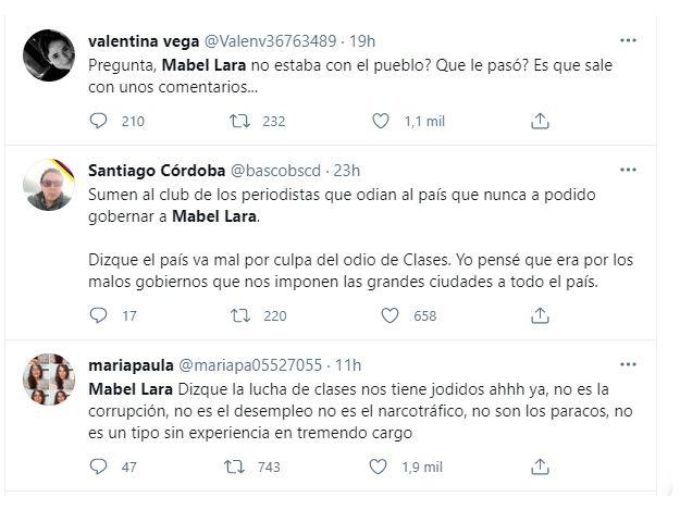 """Mábel Lara generó fuerte debate por trino sobre el """"odio de clases"""""""