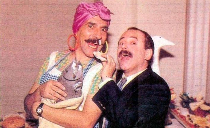 Horacio Fontova como Sonia Braguetti y Jorge Guinzburg