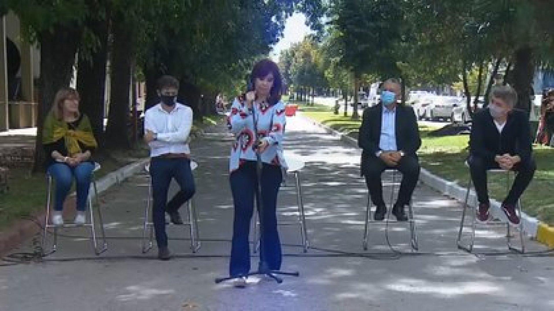 Cristina Kirchner en el último acto por el 24 de marzo