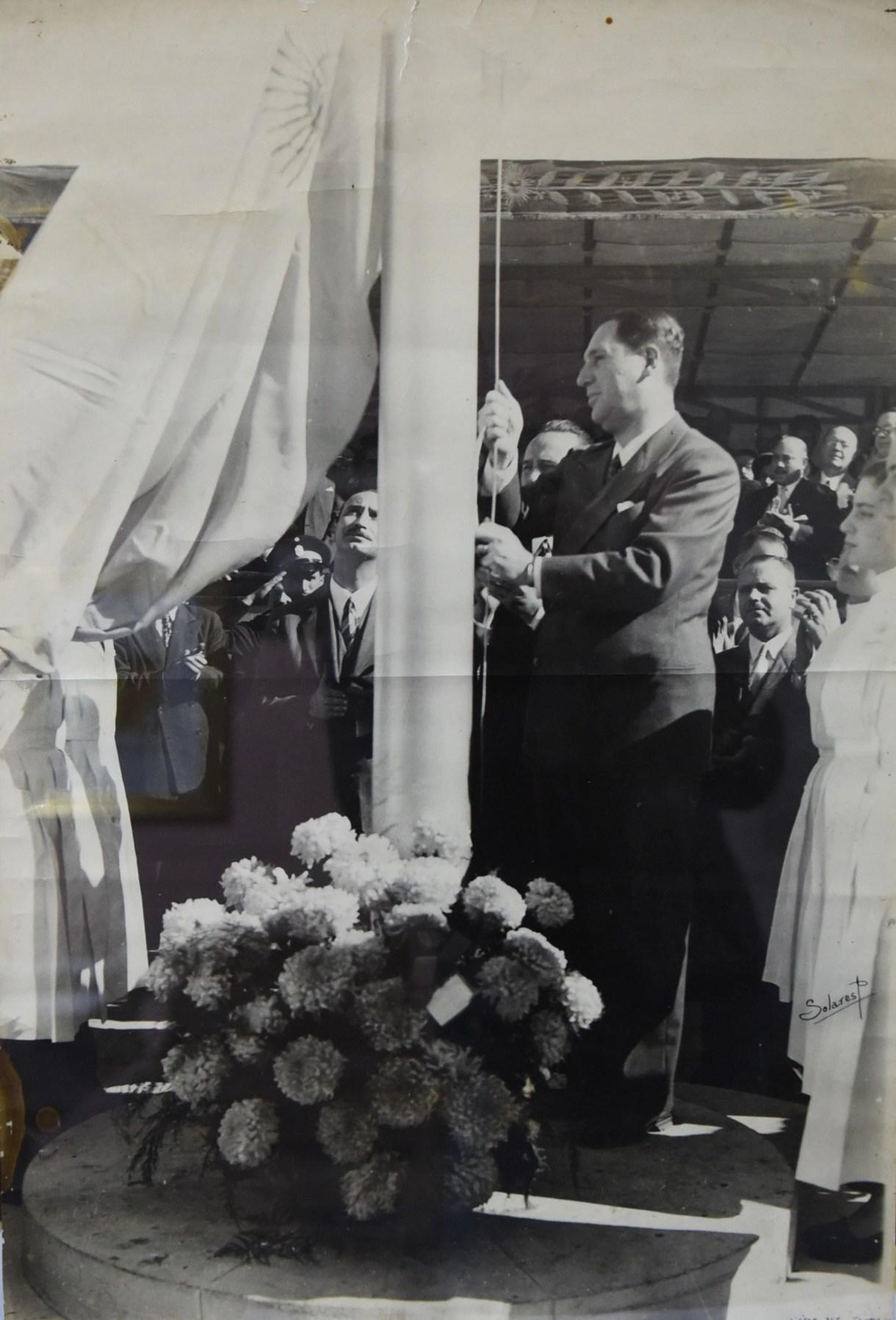 23 de abril de 1948 Perón inaugura nuevo edificio de la ENAM (Archivo ENAM)