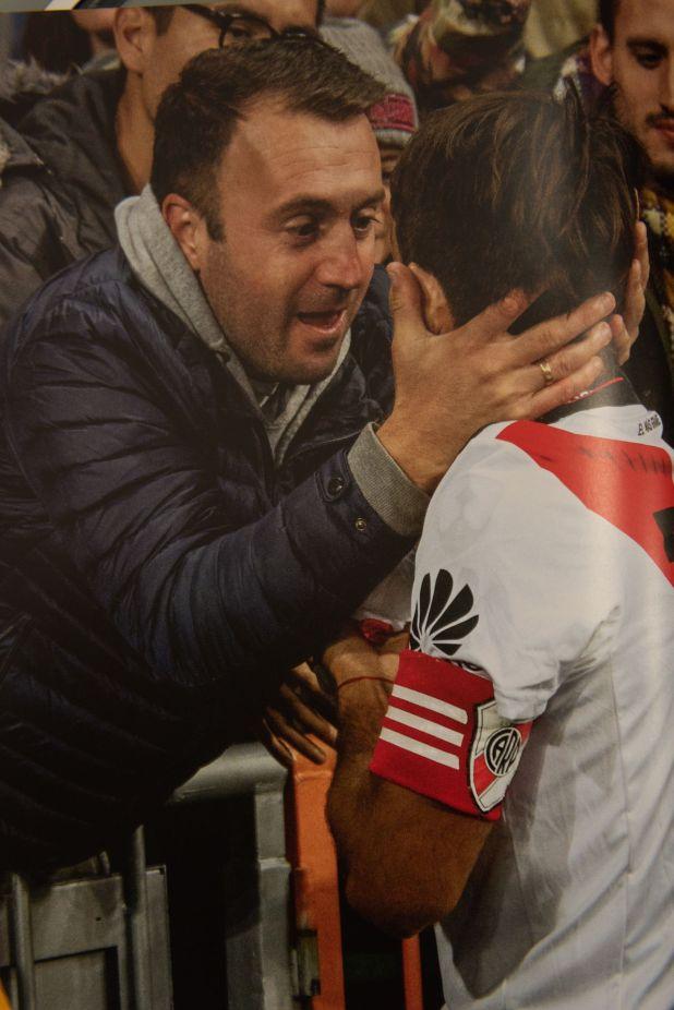 El capitán localiza entre las plateas del Bernabéu a un ex compañero de las juveniles del club rosarino