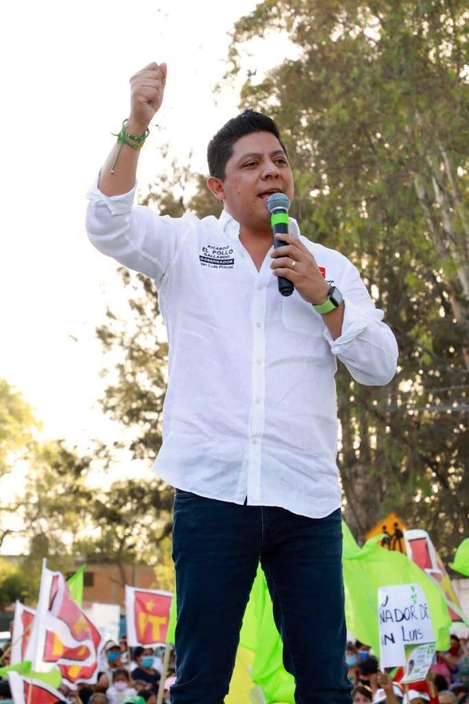 Ricardo Gallardo Cardona, candidato de la alianza PVEM-PT a la gubernatura de San Luis Potosí (Foto: Twitter / @RGC_Mx)