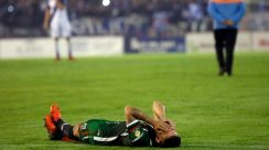 La bronca de los jugadores de San Jorge de Tucumán en Mar del Plata (Télam)