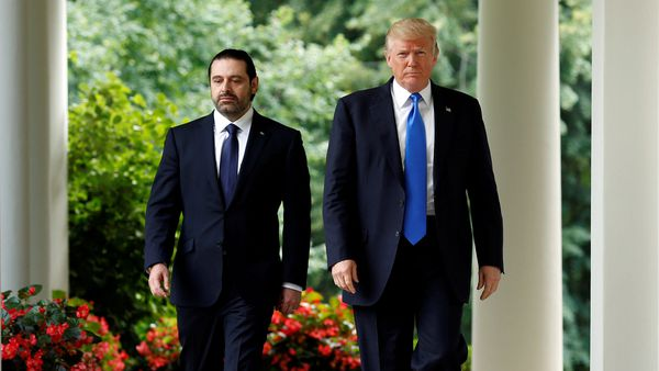 Saad Hariri y Donald Trump
