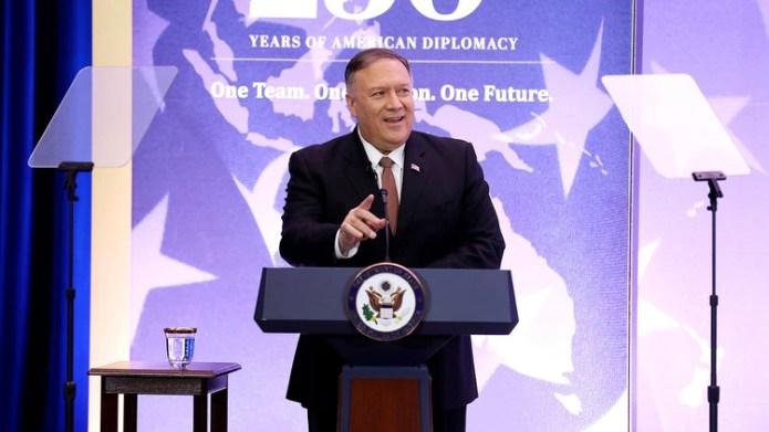 Mike Pompeo participó del foto The Economic Club, en Washington (AFP)