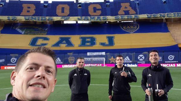 Germán Delfino en la Bombonera previo a Boca vs Talleres