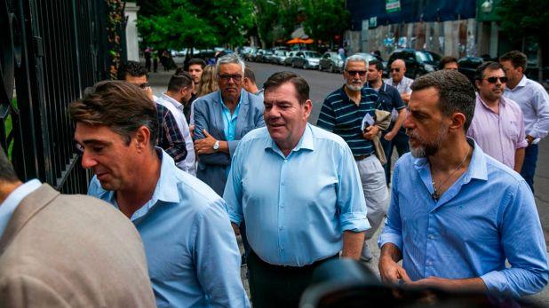 Montenegro durante la reunión de intendentes de la oposición con Axel Kicillof (Santiago Salva)