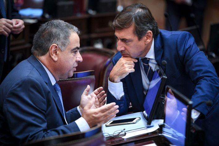 Julio Martínez y Luis Naidenoff, senadores de Juntos por el Cambio (Prensa Senado)