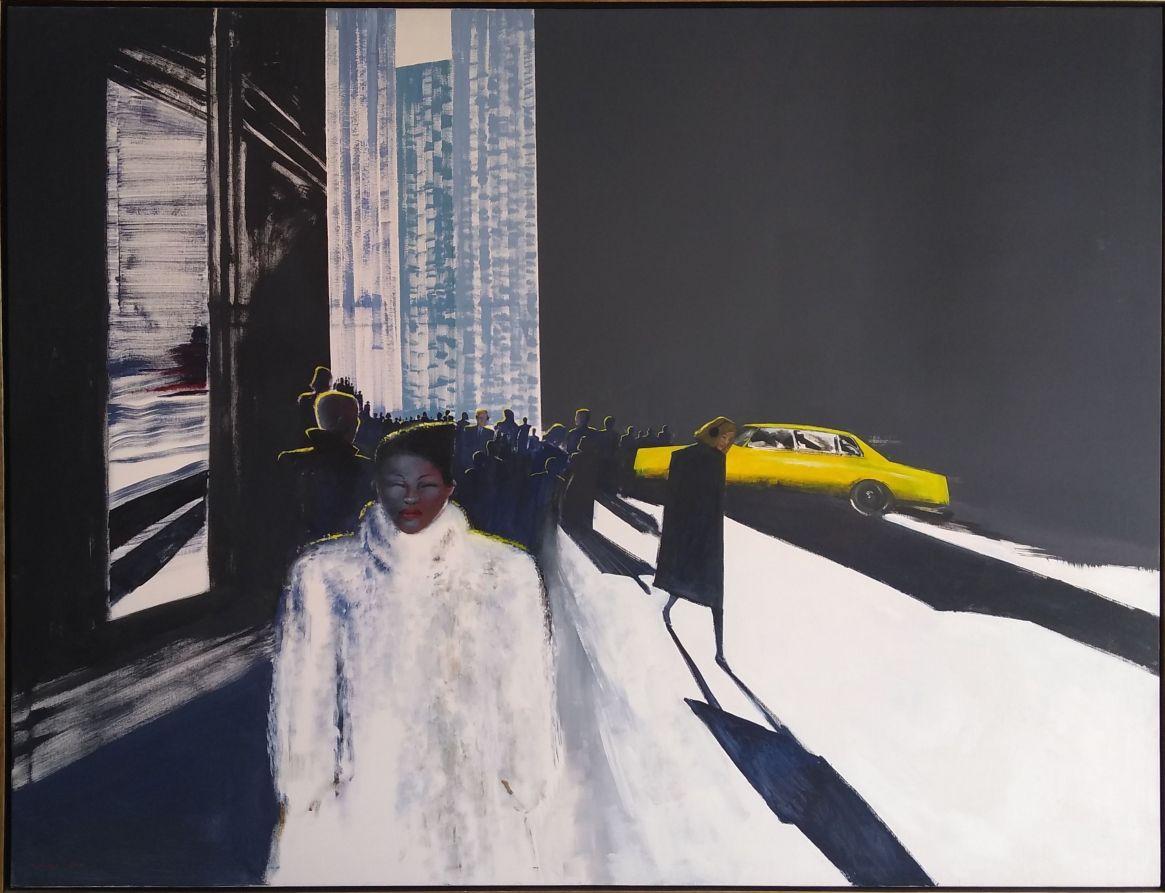 """""""Sun and cold on Nassau Street"""" (1990) Muchas de las obras que se exhiben pertenecen a colecciones privadas y se exponen por primera vez en la Argentina"""