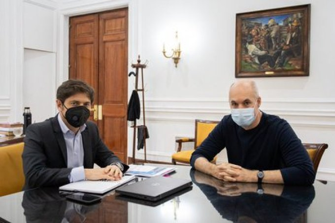 Kicillof y Larreta, distintas posturas sobre cómo continuar la cuarentena en el AMBA