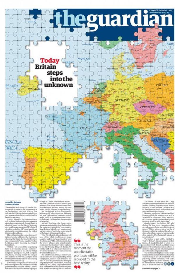"""""""Hoy Gran Bretaña avanza hacia lo desconocido"""", dice TheGuardian"""
